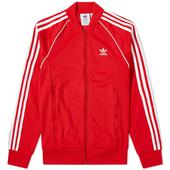 Adidas Superstar Track Top in Red