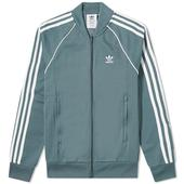 Adidas Superstar Track Top in Blue