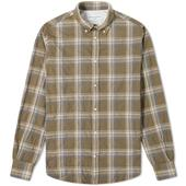 Officine Generale Antime Check Shirt in Neutral