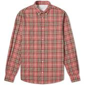 Officine Generale Antime Check Shirt in Pink