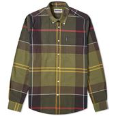 Barbour Sutherland Shirt in Green