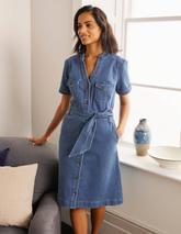 Cecily Shirt Dress in Blue
