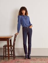 Slim Straight Jeans in Navy