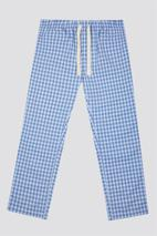 Blue Check Loungewear Pant in Blue