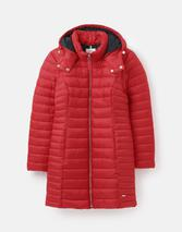 Canterbury Long Luxe Padded Jacket in Red