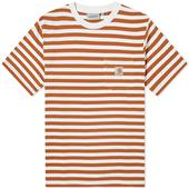 Carhartt WIP Scotty Stripe Pocket Tee in Red and White