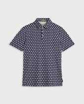 EDANAME Small floral printed polo in Navy