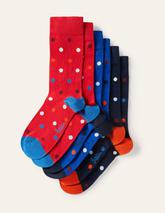 Favourite Socks in Red, Navy and Blue