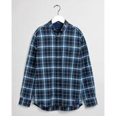 Regular Fit Tech Prep™ Herringbone Plaid Shirt in Blue