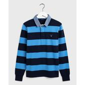 Original Barstripe Heavy Rugby Shirt in Navy and Blue