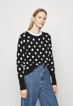 CRAZY DOT NEW COZY - Jumper in Black