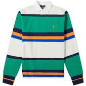 Polo Ralph Lauren Multi Stripe Jersey Rugby Shirt in Multicoloured