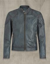 Outlaw 2.0 Leather Jacket in Blue