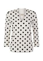 Aimee Printed Top in White