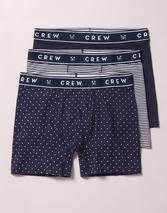 3 Pack Jersey Boxer in White and Navy