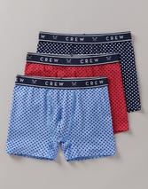 3 Pack Jersey Boxer in Red, Navy and Blue