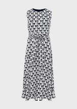 Bayview Jersey Sleeveless Midi Dress in Navy