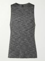In Sequence Mélange Stretch-Jersey Yoga Tank Top in Grey
