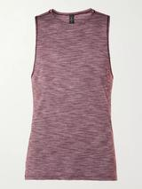 In Sequence Mélange Stretch-Jersey Yoga Tank Top in Purple