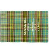 Acne Studios Cassiar Tartan Narrow Scarf in Green