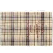 Acne Studios Cassiar Tartan Narrow Scarf in Brown