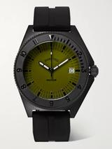 Mayfair Stainless Steel and Rubber Watch in Black