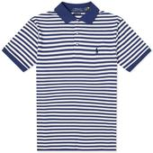 Polo Ralph Lauren Slim Fit Striped Polo in White and Navy