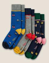 Favourite Socks in Grey, Navy and Blue