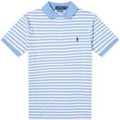 Polo Ralph Lauren Slim Fit Striped Polo in Blue