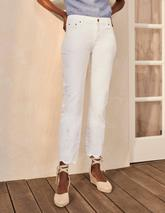 Slim Straight Ankle Skimmers in White