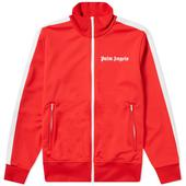 Palm Angels Taped Track Jacket in Red