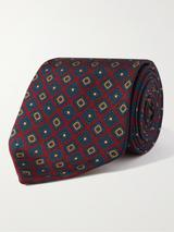 8cm Printed Silk-Twill Tie in Red
