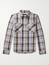 Jack Checked Cotton-Twill Shirt Jacket in Multicoloured
