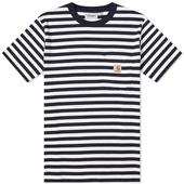 Carhartt WIP Scotty Stripe Pocket Tee in Black