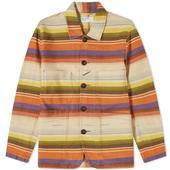 Universal Works Mexican Blanket Bakers Jacket in Multicoloured
