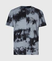 Dropout Tie Dye Crew T-Shirt in Black and Blue