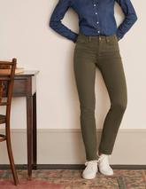 Slim Straight Jeans in Green