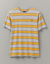 Madeley Marl Stripe T-Shirt in Yellow and Grey