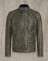 Gangster 2.0 Leather Jacket in Green
