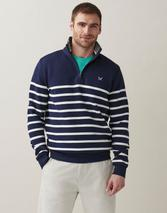 Classic Half Zip Sweatshirt in Navy
