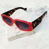Pink and Animal Square Sunglasses in Pink