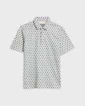 EDANAME Small floral printed polo in Grey