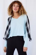 Richmond V-Neck Long-Sleeved Tee in Blue
