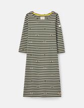211410 BCI Cotton Dress with 3/4 Sleeve in Black