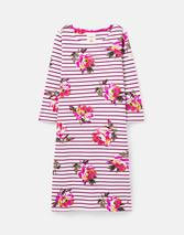 211410 BCI Cotton Dress with 3/4 Sleeve in Purple