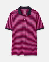 Clarkwell Jersey Polo Shirt in Purple and Black