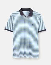 Clarkwell Jersey Polo Shirt in White and Blue