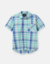 Wilson Short Sleeve Classic Fit Check Shirt in Blue