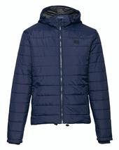Quilted Hooded Jacket in Navy