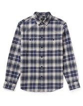 Brady Check Flannel Shirt in Grey and Navy